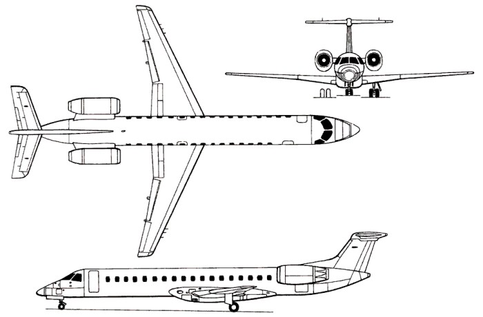 Embraer Unveils the First EMB-145 Modified for AEW Platform for ...