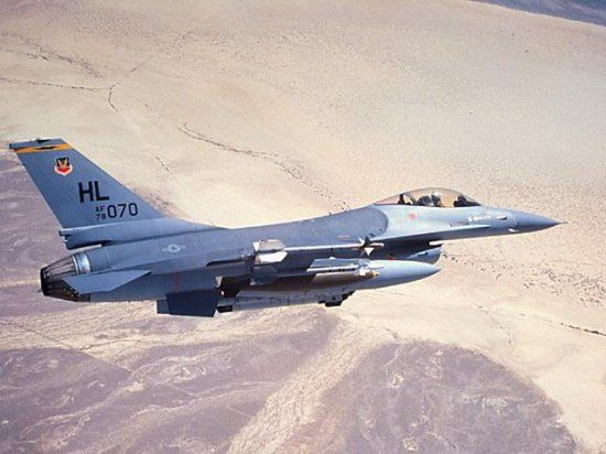 USAF F-16 Fighting Falcon ground attack fighter