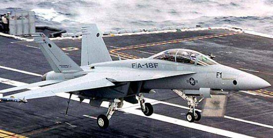 Navy F-18F Super Hornet multi-role fighter
