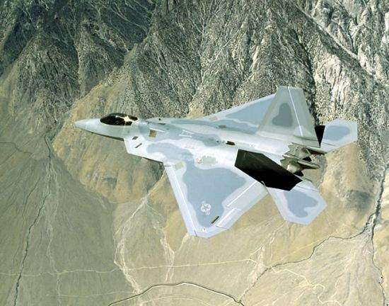 USAF F-22 Raptor air superiority fighter