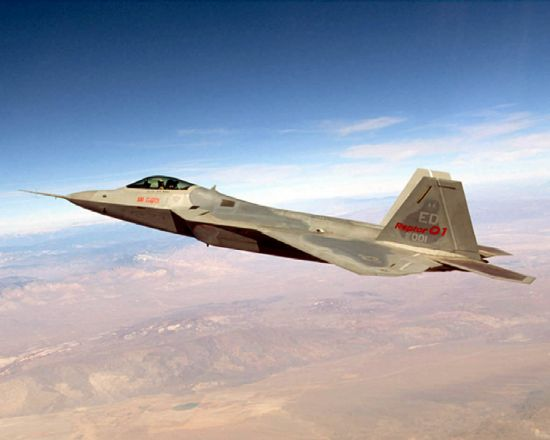 Raptor 01, the first F-22 to be named Raptor