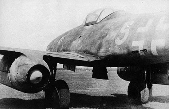View of the spike centerbody used in the engine nozzle on the Me 262