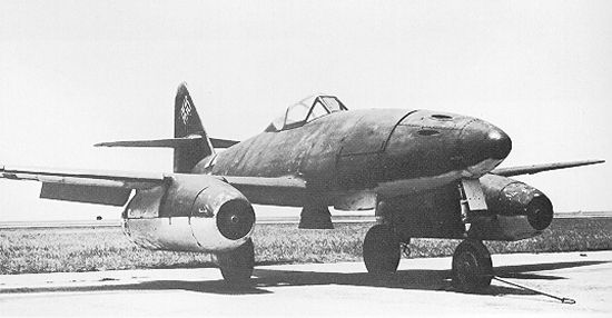 German Me 262 jet fighter