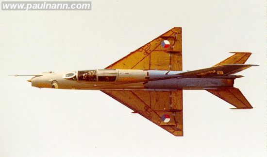 MiG-21 fighter showing its low aspect ratio wing