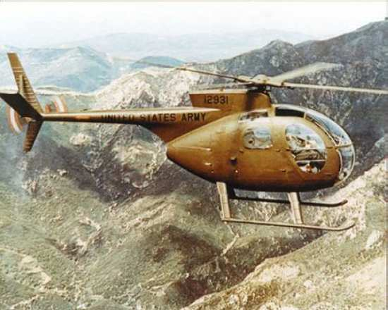 OH-6 Cayuse light helicopter of the US Army