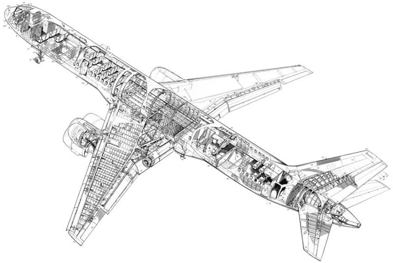 diagram of plane engine