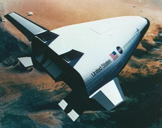 Artist concept of the X-33 in orbit