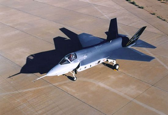 X-35 research plane and prototype for the F-35 JSF