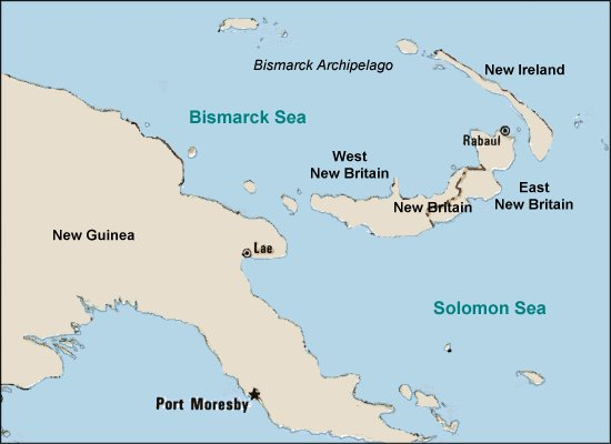 map of new guinea and new