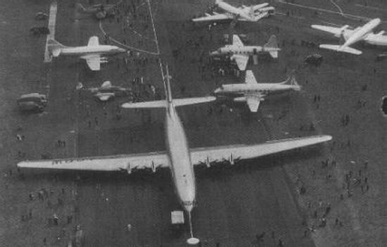 Bristol Brabazon compared to other planes of the day