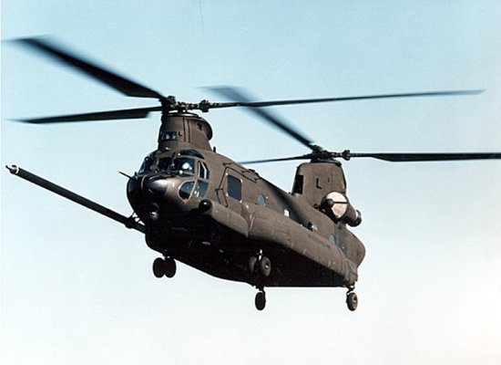 Tandem rotor design of the MH-47E Chinook
