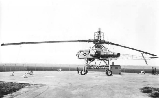 Massive rotor of the Hughes XH-17 Sky Crane