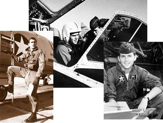 George W. Bush during his service with the Air National Guard