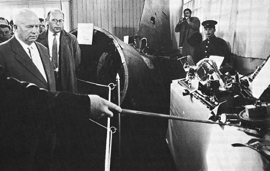 Nikita Khrushchev with the U-2 wreckage